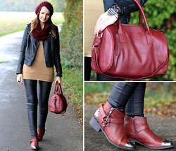 Sabrina K. - Primark Biker Jacket, Primark Bordeaux Bag, Primark Biker Boots - But in the end, you're always on my mind!
