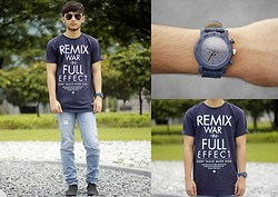 Stephen Garcia - Trilogy Loose Shirt, Cotton On Denim Watch - Remix War