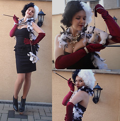 Patricia C. - Jeffrey Campbell Icy Toy Shoes, Zara Necklace, Dalmatian Bag My Parents Bought Me In Mallorca When I Was A Kid - My Halloween costume this year- Cruella De Vil