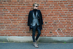 Robin Nilsson - Oscar Jacobson Coat, Acne Studios Shoes, Zara Pants, Topman Turtleneck - BRICK IN THE WALL