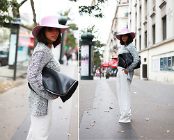 Vanessa Perroud - River Island Hat, Monki Top, Pimkie Trousers, 3.1 Phillip Lim Bag - POUNDER PINK HAT