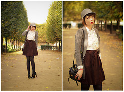 Jessica D - Zara Shirt, Mulberry Bag, H&M Cardigan, Zara Hat - Les Tuileries