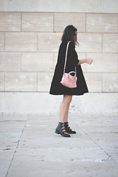 Flaviana B. - Asos Dress, Asos Boots, Balenciaga Bag - BLACK&PINK