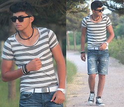 Wassim El Bouanani - Converse All Star, Quartz, H&M Belts - AGADIR ♥