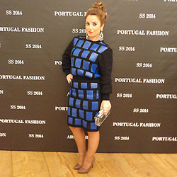Cátia Barge - Asos Earrings, Barge Sweater, Barge Skirt, Zara Clutch, Bianca Shoes - Portugal Fashion Day 2
