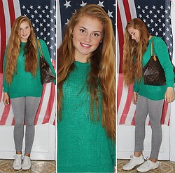 Katherine Roguska - Alcott Jumper, Superga Sneakers - GREEN.♥