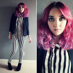 The Pastel Lady - H&M Striped Pants - Beetlejuice! Beetlejuice! Beetlejuice!
