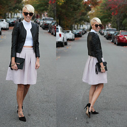 Erin Marie - Asos Top, H&M Jacket, H&M Skirt, Zara Heels - Lilac in the Fall