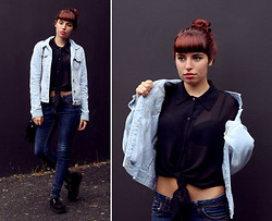 Ester R. - Primark Demin Jacket, Honeymoonmuse Blouse, Primark Creepers - The Two Demin Pieces