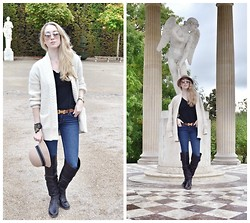 Jessica C. - Le Château Hat, Jack Wills Sweater, J Brand Jeans - A Day at Versailles