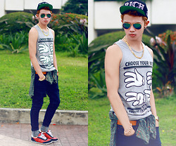 Jaye Santos - Rich, Androgyne Manila Aviator, So Close Swag Tanks, Oxygen Denim, Penshoppe Sneakers - #SIMPLESWAGG