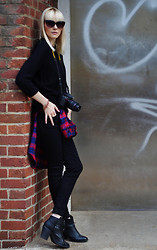 Coverstories.de - H&M Knitwear, Rue 21 Blouse, H&M Skinny Jeans, H&M Booties - Little bit of this and a little bit of that