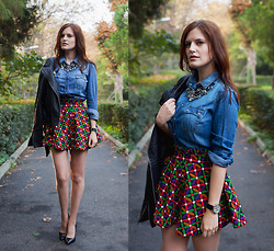 Viktoriya Sener - Let Them Stare Skirt, Stradivarius Denim Shirt - BREATH OF MORNING