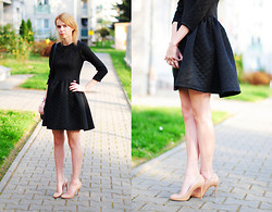 Johanna K. - Dress, Heels - QUITED SKATER DRESS
