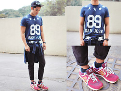 David Guison - Topman Shirt, New Balance Sneakers, Color Super Snapback - Counting Stars