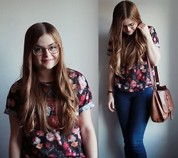 Emma Lindmark - Cubus Floral Top, Cheap Monday Jeans, Urban Outfitters Watch, H&M Bag - Sweet 17!