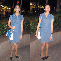 Priscilla Pardo - Weina Jeans Denim Dress, Wholesale Dress Bag - Denim Dress