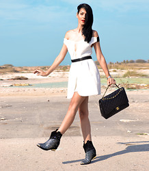 Konstantina Tzagaraki - Dress, Chanel Bag, Booties - Ending, it's just the place where you stop the story..