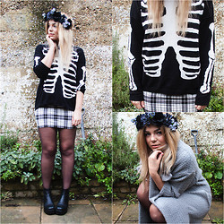 Lily Melrose - Asos Skeleton Jumper - Happy halloween!