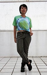 Althea B - 0000 Marge, Glassons Striped Pants, Pulp Cut Out Boots - Obvious Target