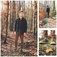 Steve Simon - Thrifted Quilted Jacket, H&M Camo Socks, Tisza Kicks - Somewhere In The Woods