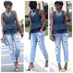 Skinny Hipster -  - Casual Friday: Ripped Boyfriend Jeans