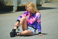 Amina Bruzelius - Sheinside Galaxy Sweater - Please summer, come back to me