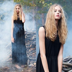 Emma S - Black Maxi Dress - Her own stake.