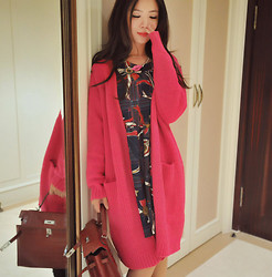 Wendy Wong - Beahappygirl Cardigan, Beahappygirl Dress - Maxi Pinky