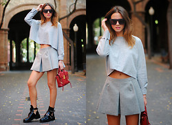 Zina CH - 3.1 Phillip Lim Bag, Balenciaga Boots - What's With Grey?