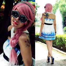 Priscila Diniz - Udobuy 2013 New Ink Tie Dye Halter Sleeveless Strapless Dress - ARTPOP