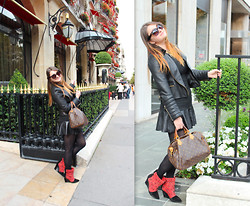Dasha Romanova - Zara Dress, Parada Sunnies, Zara Shoes - Little Black Dress