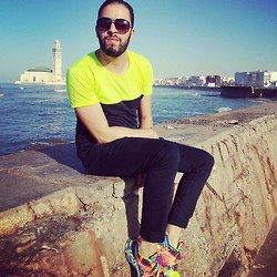 Yassine Amlal - Marc By Jacobs Eyewear, Topman Shirts, Zara Pants, Asics Sneakers   Dynamic Duomaw (I.G.S) - Casablanca