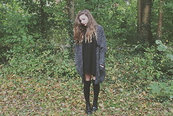 Rianna Bowles - Primark Cardigan, Missguided Smock Dress, Dr. Martens Dr - Four Eleven