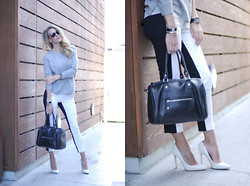 Kier Mellour - Mossimo Pants, Aldo Heels, Topshop Sweater - It's not all black and white