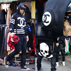 INWON LEE - Byther Baggy Pants, Chanel Hoodie - Don't stop the music