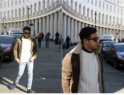 Ronan Summers - Topman Aviator Leather Jacket, Cheap Monday Tight Jeans, Illesteva Sunglasses, H&M Knitwear - The Aviator