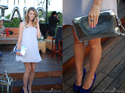 Kier Mellour - Bri Seeley Dress, Zara Clutch, Aldo Shoes - Lavender hues