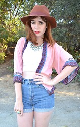 Amy Roiland - Http://Www.Shopatimage.Com Kimono, Bdg High Waisted Shorts, Yves Saint Laurent Arty Ring, Http://Www.Shopatimage.Com Necklace, Asos Hat - TRUE LOVE, I FOUND IT!