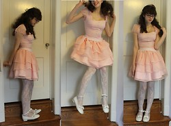 Kattoo King - Handmade By Me Dress, Forever 21 Tights, Bodyline Shoes - Floating on a Pink Cloud