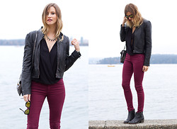 Alison Hutchinson - Forever 21 Jacket, Zara Jeans, Topshop Boots - On Repeat