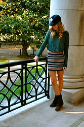 Anna Schowe - Imogene + Willie Hat, H&M Skirt, Urban Outfitters Top, Peter Nappi Boots - NASHVILLE.