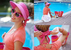 Kier Mellour - Kate Spade Shades - Pink and Orange
