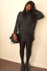 Mwandu S - Topshop Sweater, Zara Skirt, Jeffrey Campbell Coltranes - Just like the Way we Were Before