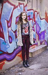 Ashlyn K - Forever 21 Leopard Print Coat, J Brand Oxblood Jeans, C. Wonder Statement Neckalce - You're Gonna Hear Me Roar