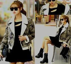 Seung Yeon - Itsmestyle Cargo & Black Rider Mustang, Itsmestyle Bust Holes Flare Ops, Itsmestyle Long Ankle Walker Style - Sexy and Military