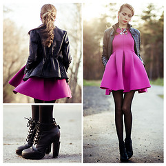 Tini Tani - Choies Dress, Choies Boots, Lalo Treasures Necklace, Lalo Treasures Earrings - Pink Dress 2