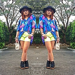 Raffi Alcantara - Harlan + Holden Top, Land Mark Highwaisted Shorts, Tonic Sneaker Wedge, Cotton On Hat - Oversize