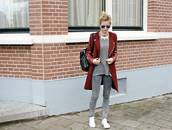 Jint B. - Zara Coat, Converse Sneakers, Asos Backpack, Anthropologie Collar - Mix
