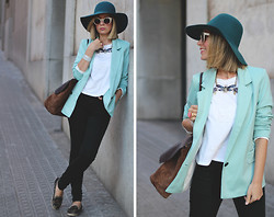 My Showroom Priscila - Zerouv Sunnies, Sheinside Blazer - Green Tones